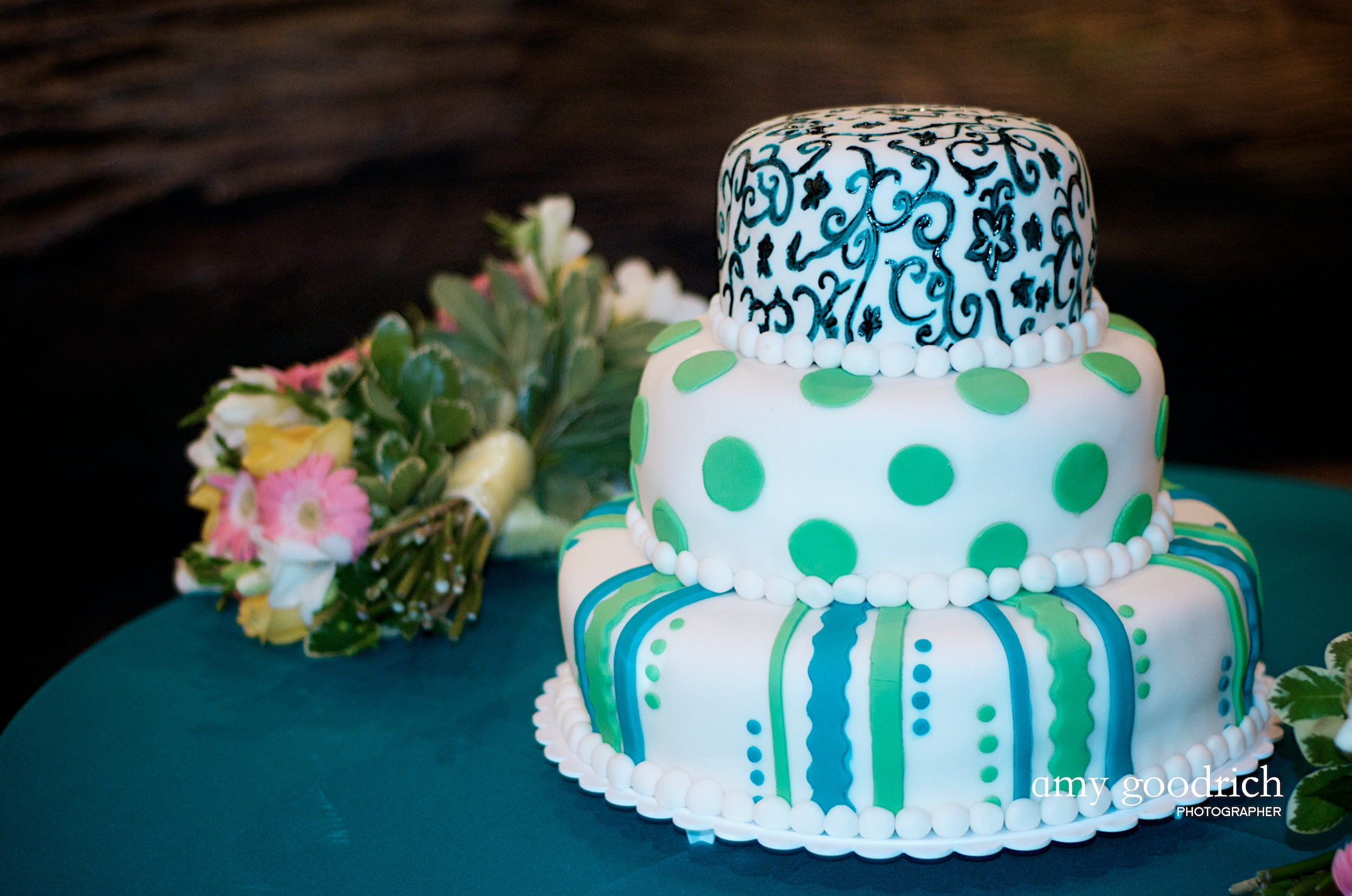 Kyle S Cousin Is Actually A Professional Cake Baker Decorator So It Was An Easy Choice To Use Her For Our Ca Reception Cake Another Delicious And Gorgeous