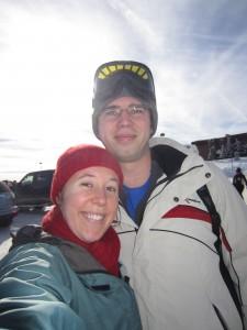 obligatory self-pic before skiing