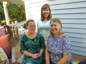 my sister, me, and my mom earlier this month