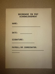 decrease in pay form