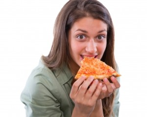 pizza eating