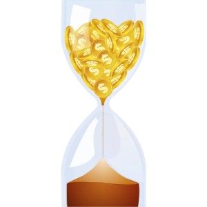 gold coin hourglass