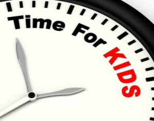 clock with time for kids on face
