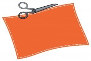 scissors cutting coupon
