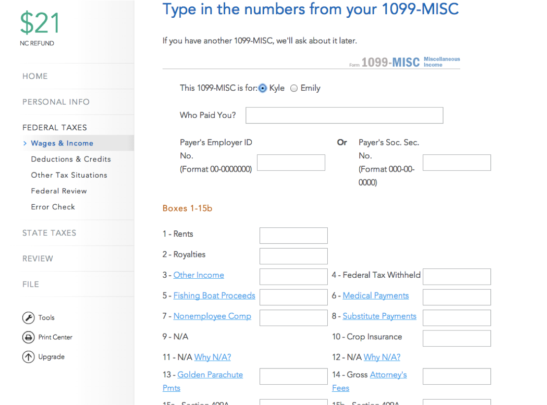 How to enter 1099 misc fellowship income into turbotax evolving 1099 misc falaconquin