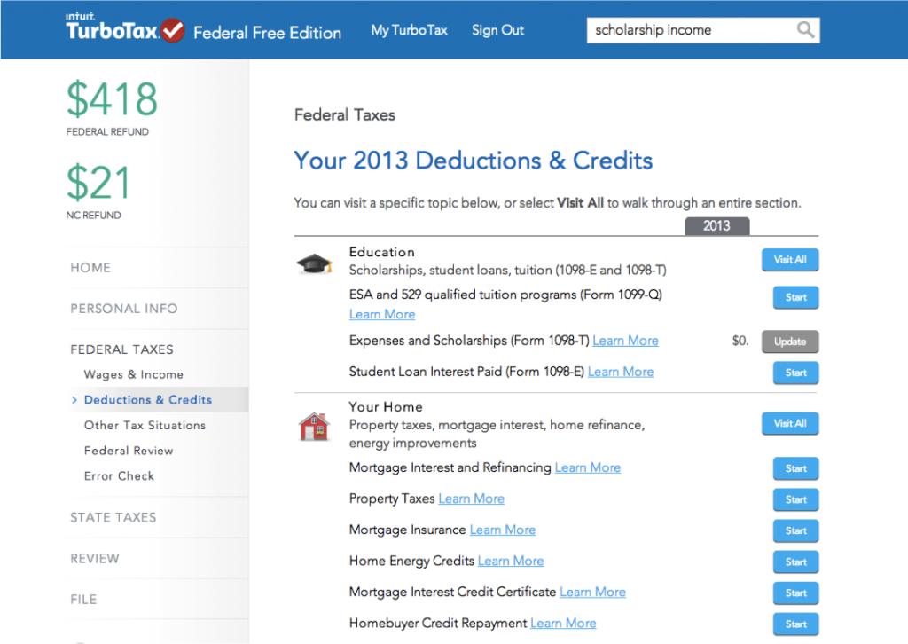 deductions and credits