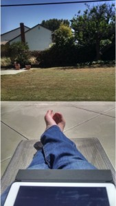 THE LIFE - working on my business while enjoying the CA sunshine