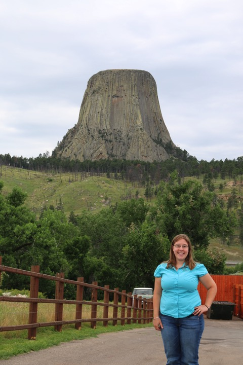 posing with Devils Tower