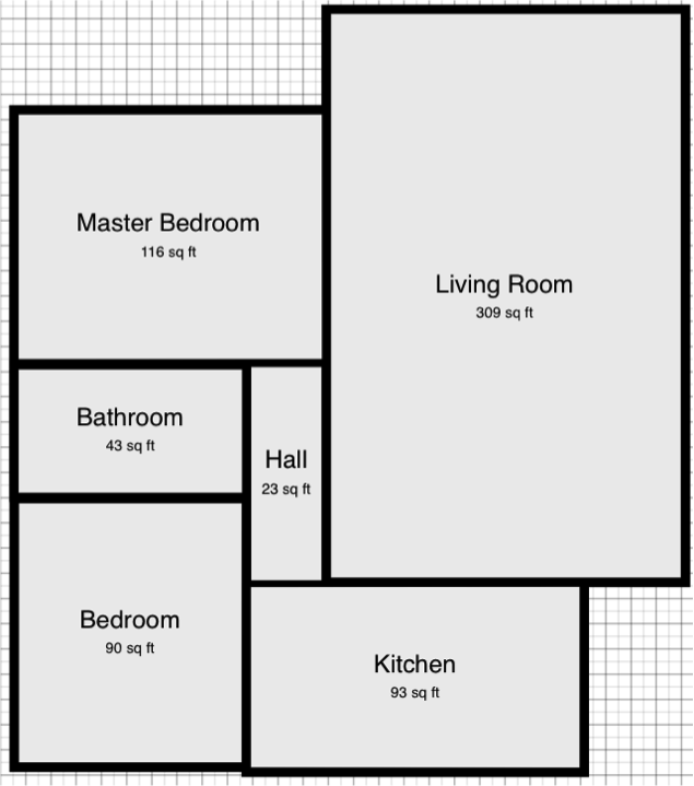 approximate floor plan of our new aparment