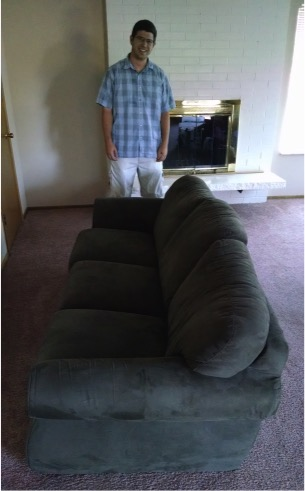 found a free couch right next to our apartment!