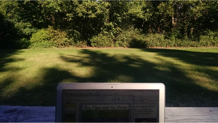 I recently took my laptop to a local park for a few hours to work on my presentations.