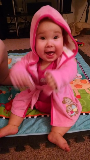 DPR is so excited about her robe!