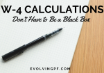 W-4 Calculations Don't Have to Be a Black Box